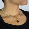 Citrine beaded chain necklace with pendant
