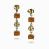 Citrine and Carnelian Drop Earrings