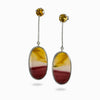 Citrine and Mookaite earrings