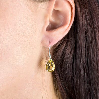 Citrine Earrings on Model