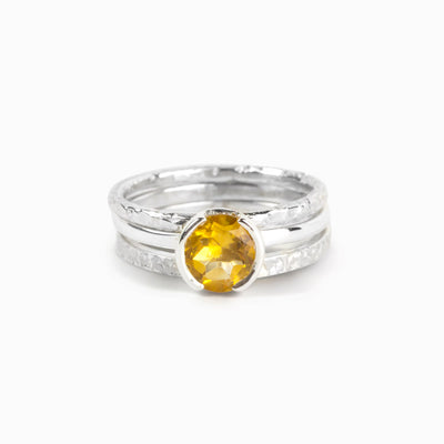 Citrine Stackable Rings