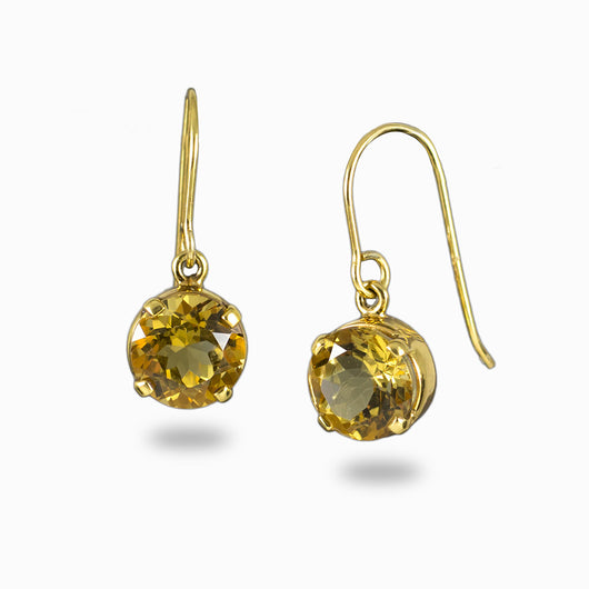 Citrine Earrings from the Midas Touch Collection