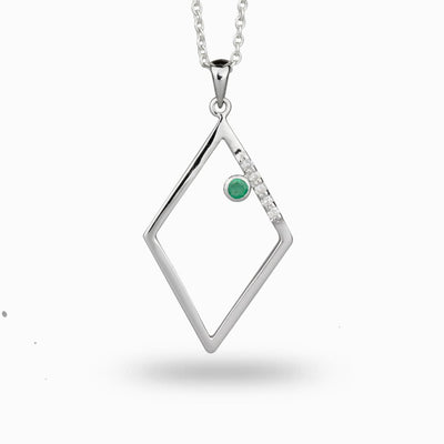 Diamante: Emerald & Diamond Pendant