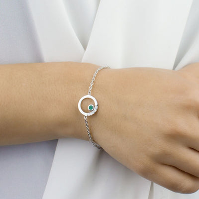 Cercle: Emerald & Diamond Bracelet on Model