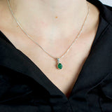 Emerald Pendant on Model