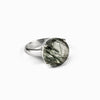 Epidote-Included Quartz Ring