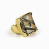 Epidote-Included Quartz Ring from the Midas Touch Collection