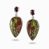Garnet and Dragons Blood Jasper Earrings