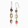 Garnet and Citrine Earrings