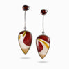 Garnet and Mookaite Earrings