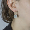 Gibeon Meteorite Earrings on Model