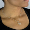 Herkimer Diamond Pendant on Model