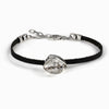 Herkimer Diamond Flat Leather Bracelet