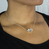 Herkimer Diamond necklace on model