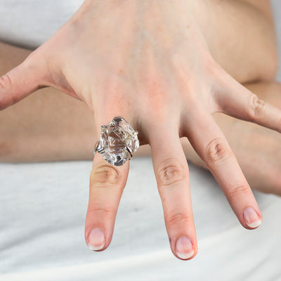Herkimer Diamond Ring on Model