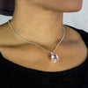 Kunzite Pendant on Model