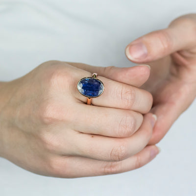 Kyanite Ring on Model