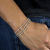 Labradorite beaded chain bracelet on model
