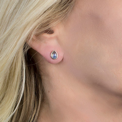 Labradorite Studs on Model