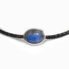 Labradorite leather necklace