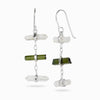 Laser Quartz and Green Tourmaline Earrings