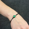 Malachite Flat Leather Bracelet on Model