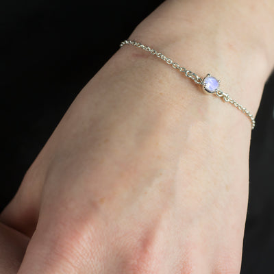 Rainbow Moonstone Bracelet on model