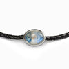Rainbow Moonstone leather necklace