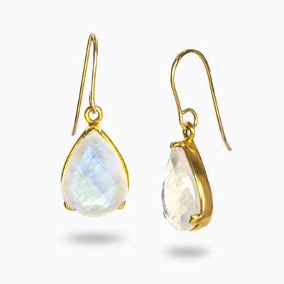 Vermeil Rainbow Moonstone Drops