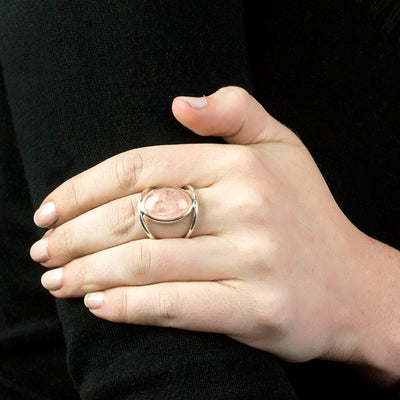 Morganite Ring on Model