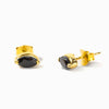 Vermeil Onyx Stud Earrings