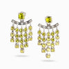 peridot stud drop earrings