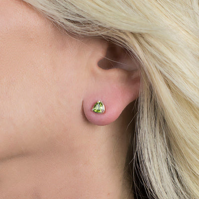 Peridot Earrings on Model