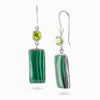 Peridot and Malachite Earrings