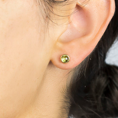 Vermeil Peridot Earrings on Model