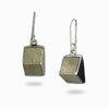 Pyrite Cube Earrings