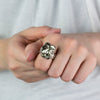 Pyrite ring on model