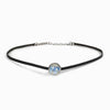Rainbow Moonstone leather choker