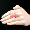 Rhodochrosite Ring on Model
