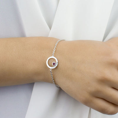 Cercle: Ruby & Diamond Bracelet on Model