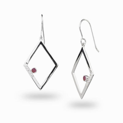 Diamante: Ruby & Diamond Earrings