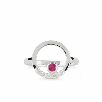 Cercle: Ruby & Diamond Ring
