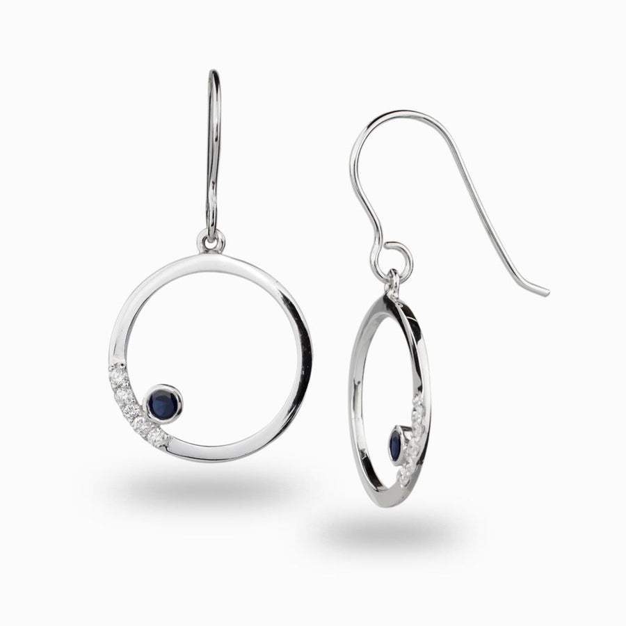 Cercle: Sapphire & Diamond Earrings