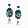 Kyanite, Shattuckite, and Blue Topaz Earrings