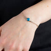 Sleeping Beauty Turquoise bracelet on model