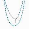 Sleeping Beauty Turquoise beaded chain necklace