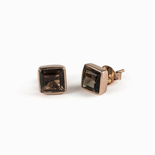 Smokey Quartz Earrings from the Midas Touch Collection