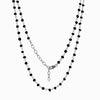 Black Spinel Beaded chain necklace