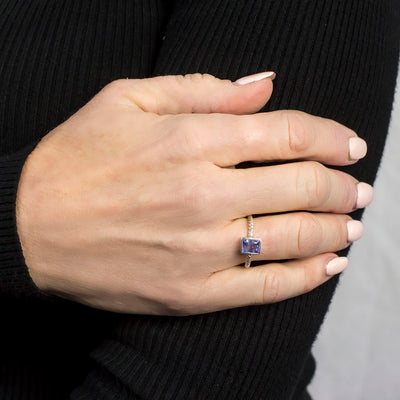 Tanzanite Ring on Model