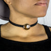 Tiger Iron Leather Choker